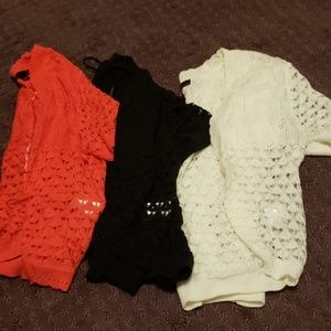 Short sleeve cropped cardigan bundle